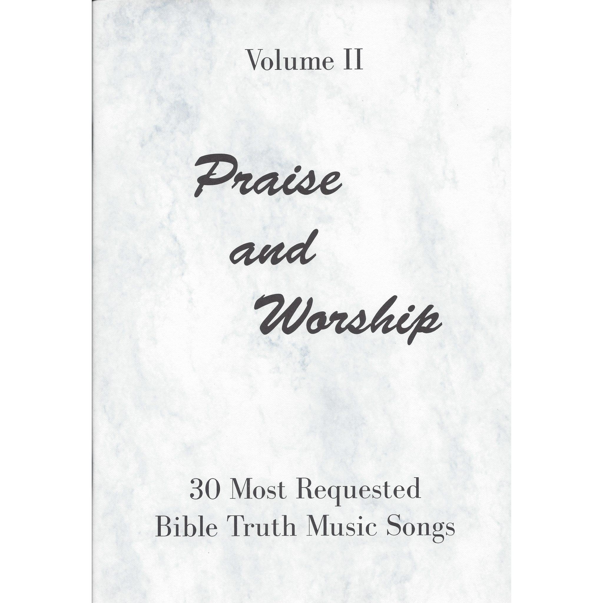 Praise and Worship Vol  2 Choral Book